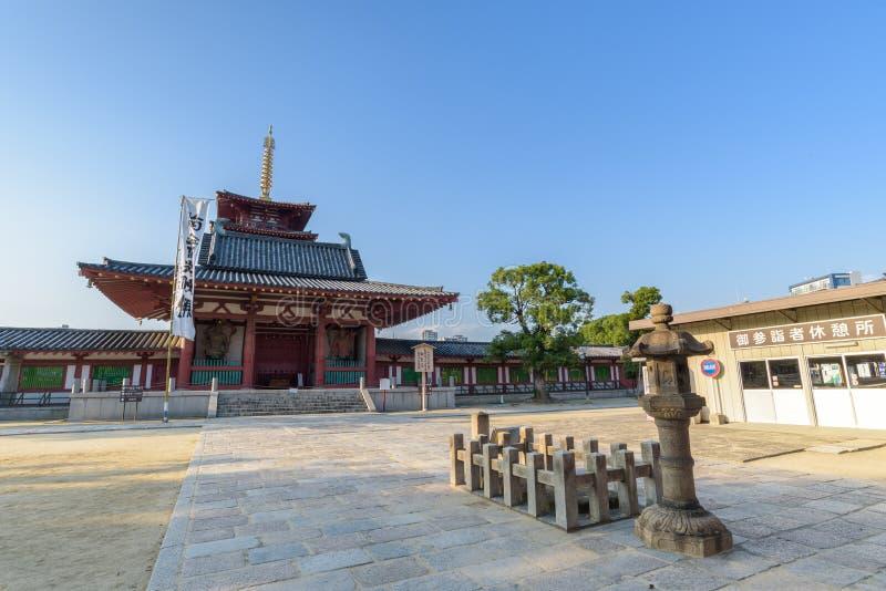 Shitennoji tempel i Tennoji, Japan fotografering för bildbyråer