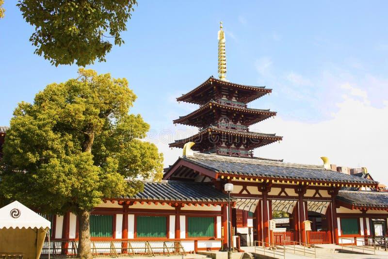 Shitennoji, tempel, Osaka royalty-vrije stock afbeelding