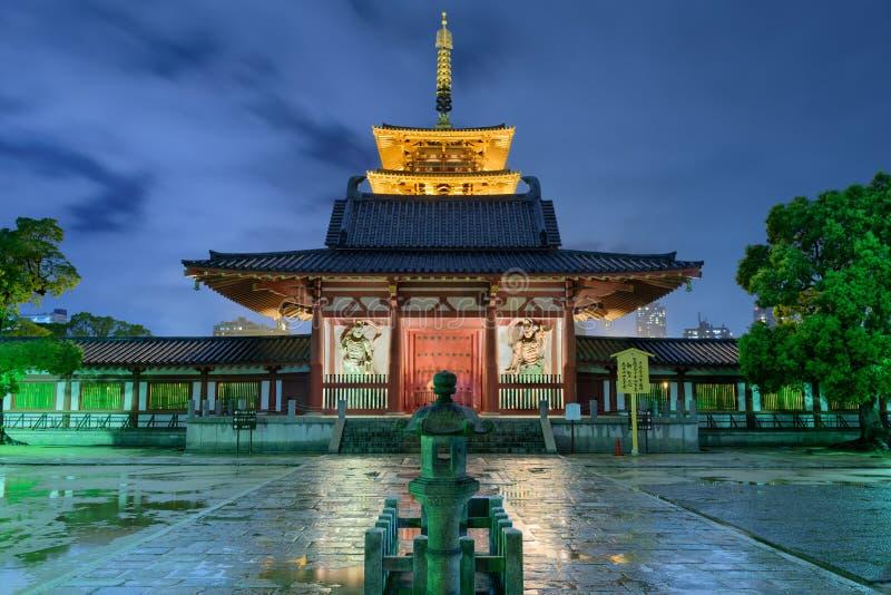 Shitennojitempel Osaka Japan stock foto's