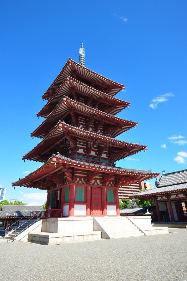 Shitenoji-Tempel stockbilder