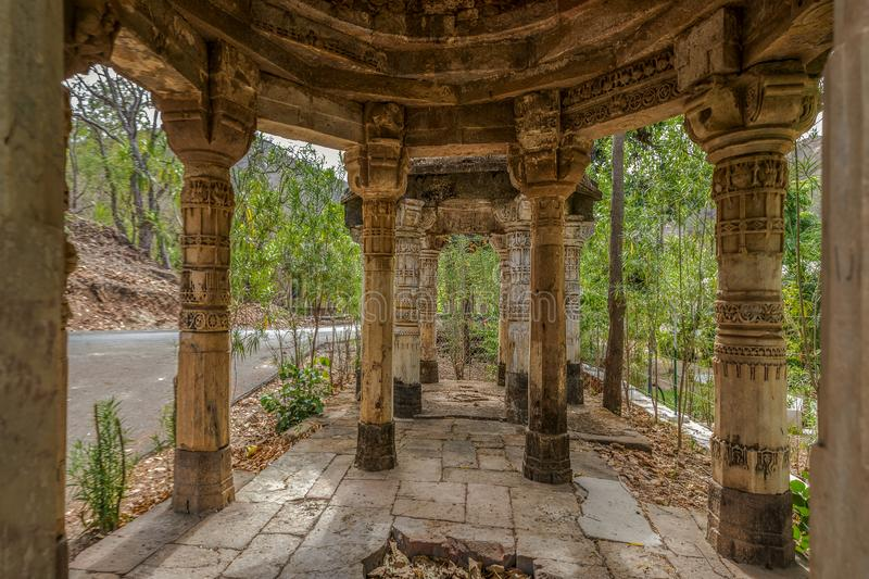 Shiv Shakti Temple also called Sun Temple, Abhapur, Polo Forest-heritage architecture-Polo Monument and Vijaynagar Forest-Vijayn. 10-Apr-2015-Shiv Shakti Temple royalty free stock image