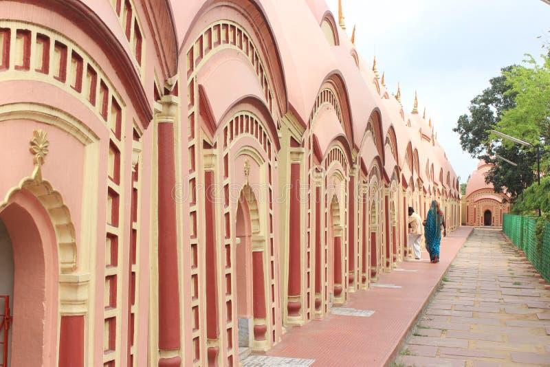 108 Shiva świątynia przy Burdwan, Zachodni Bengalia, India obrazy royalty free