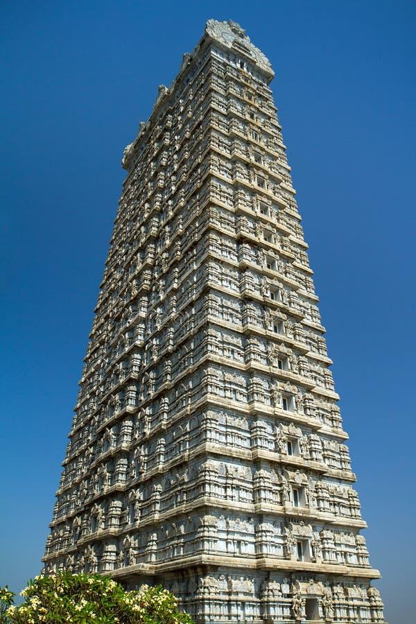 Shiva świątynny gopura w Murudeshwara, India zdjęcia stock