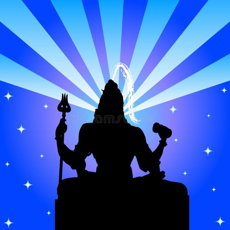 shiva лорда бога индийское иллюстрация вектора