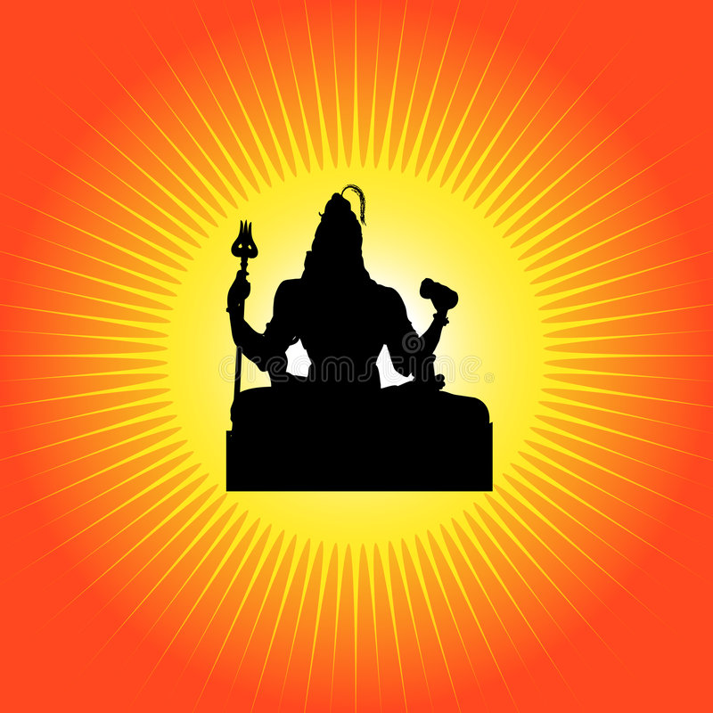 Shiva - deus indiano ilustração stock