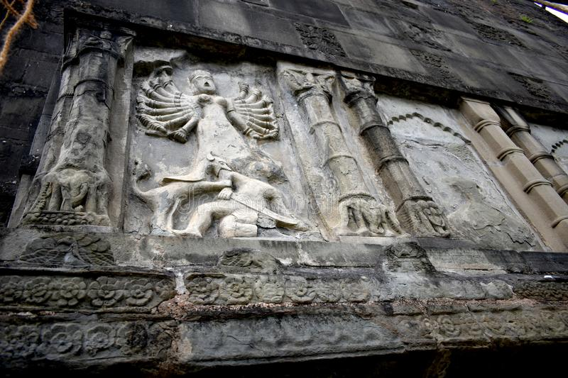 Shiva Dol of Sivasagar, Assam, India. Shiva Dol, also called Shiv Temple of Sivasagar in Assam with beautiful stone carving on its outer wall, is the tallest royalty free stock photo