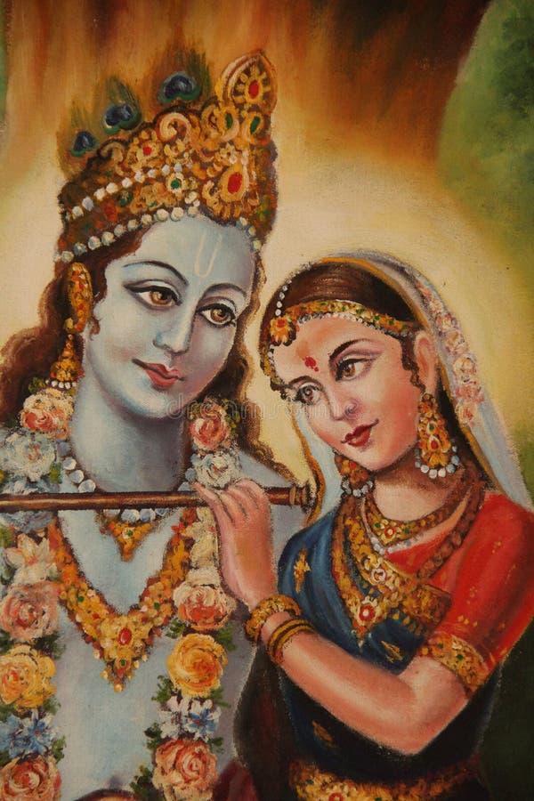 Shiva en Parvati stock foto's