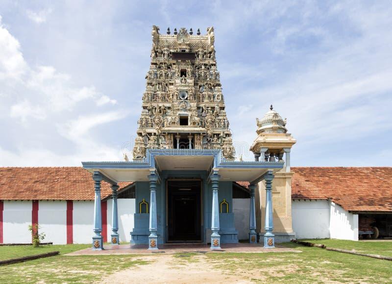 Shiva hinduska świątynia w Valvettithurai Sri Lanka zdjęcie stock