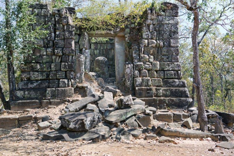 Shiva Linga in Prasat Thneng ruin, Koh Ker temple complex, Cambodia royalty free stock photo