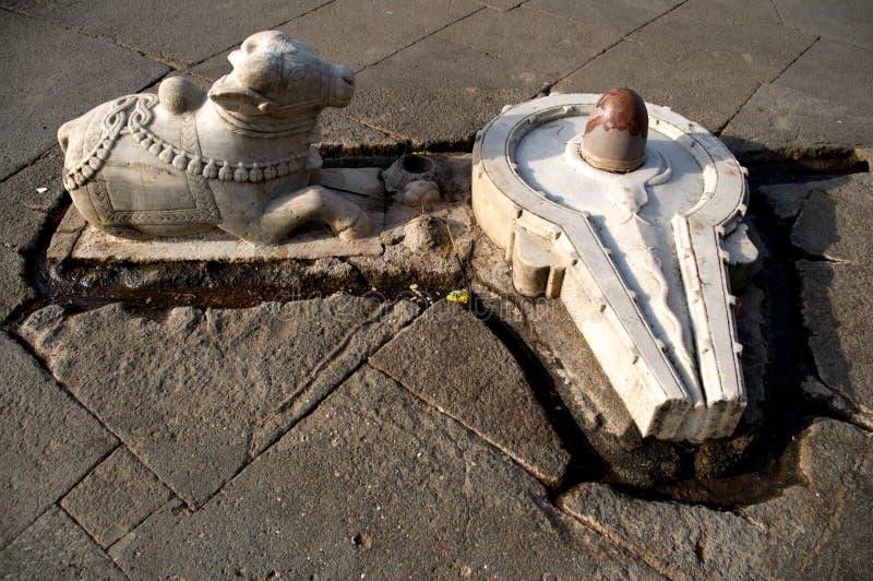 shiva lingam быка стоковое фото
