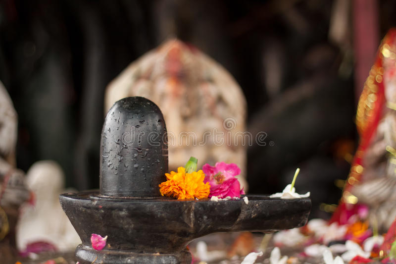 Shiva Lingam royalty-vrije stock fotografie
