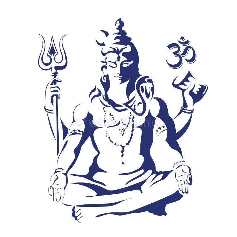 shiva Maha Shivaratri stock illustratie