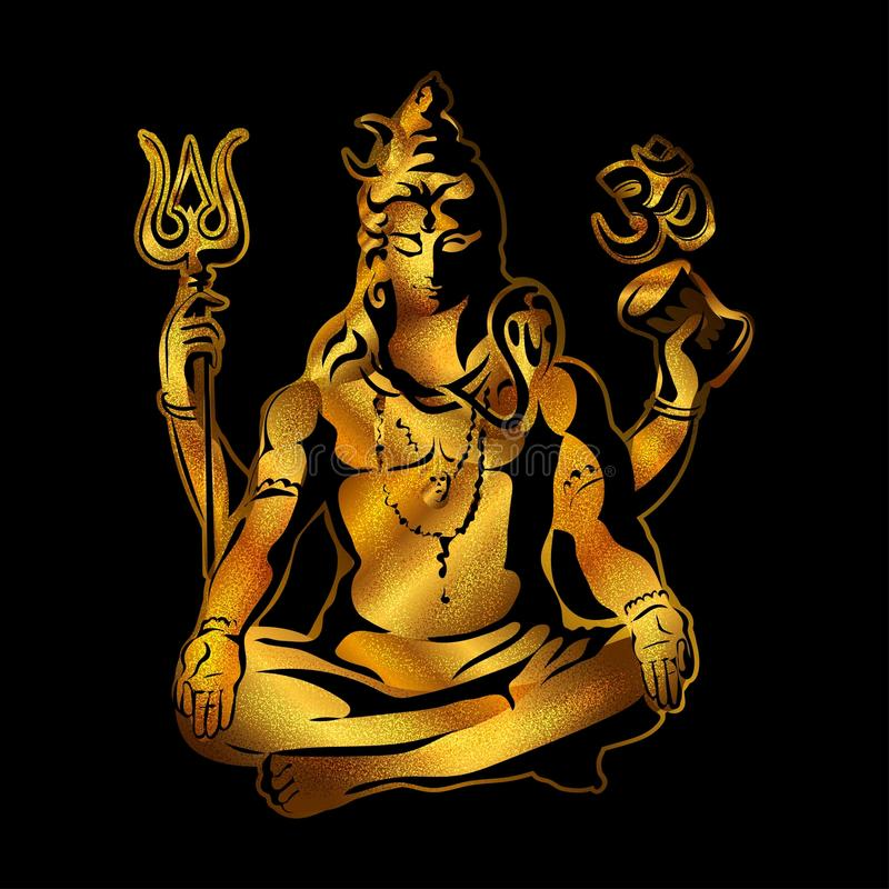 shiva Maha Shivaratri illustration de vecteur