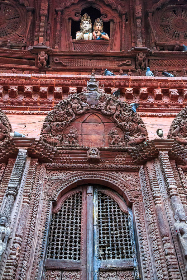 Shiva-Parvatitempel, Durbar-Quadrat, Kathmandu, Nepal lizenzfreie stockbilder