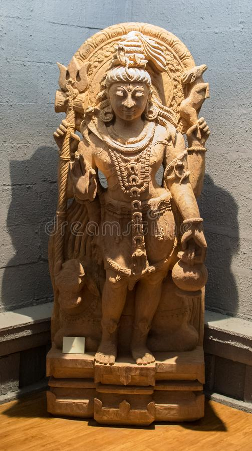 Shiva Sculpture India debout photographie stock libre de droits