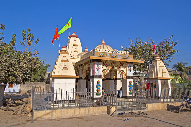 Shiva Siddheshwar-tempel in Porbandar stock foto's