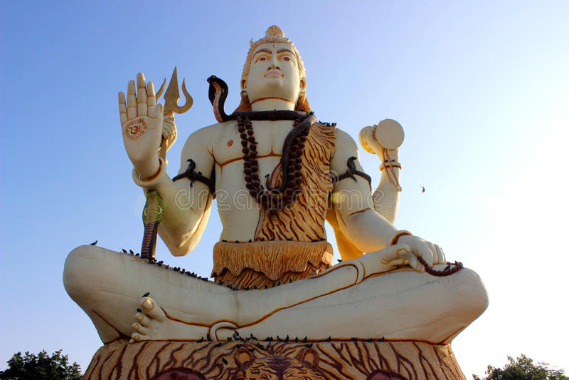 shiva Statue阁下 库存照片