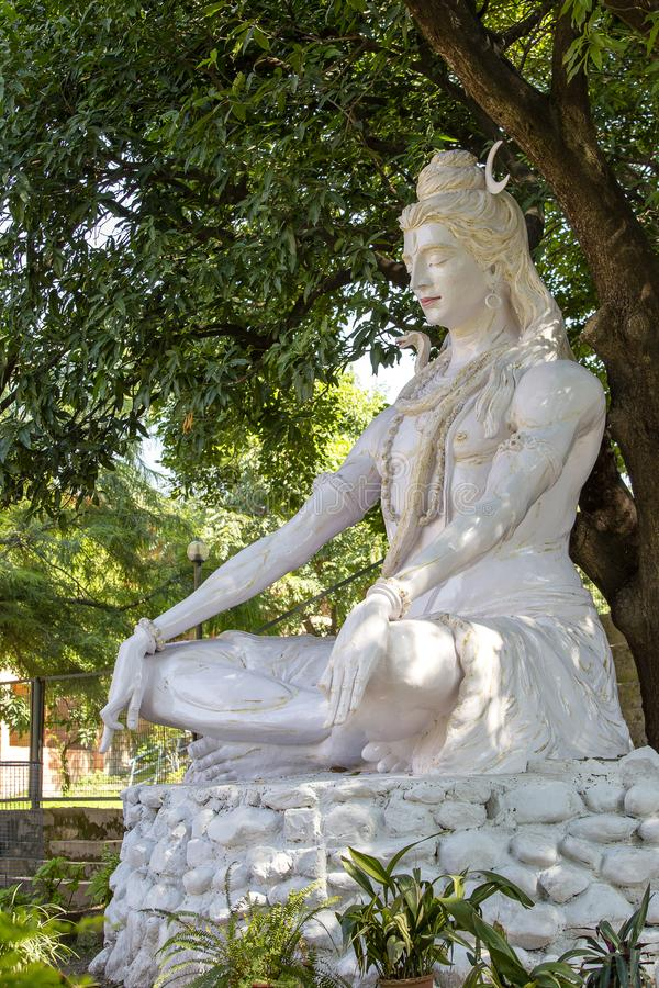 Shiva statue, Hindu idol, near on the river Ganges, Rishikesh , India royalty free stock images