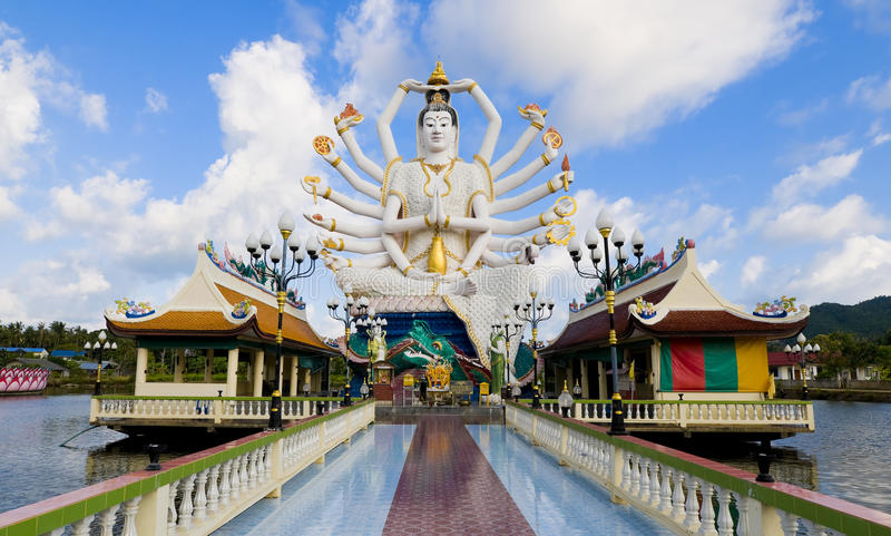 Shiva statue in koh samui stock photo