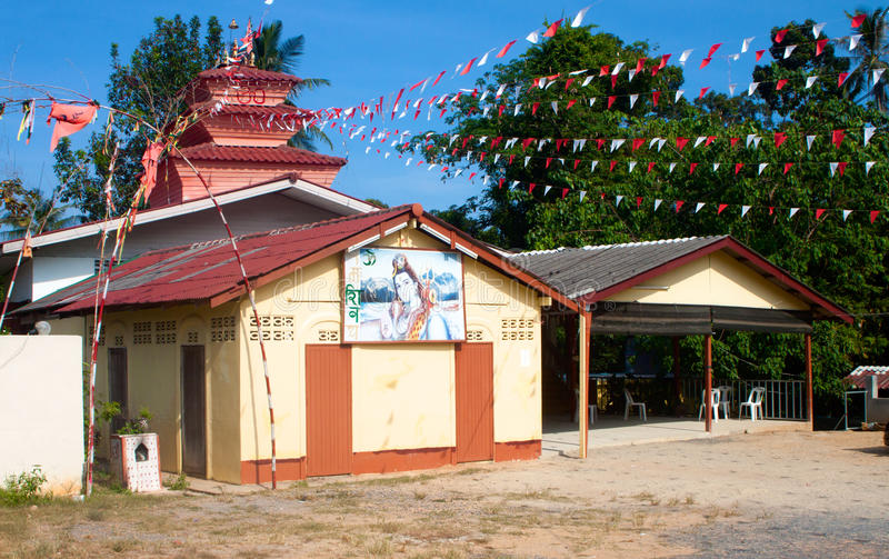 Shiva Tample, Chaweng, Samui, Thailand stock image