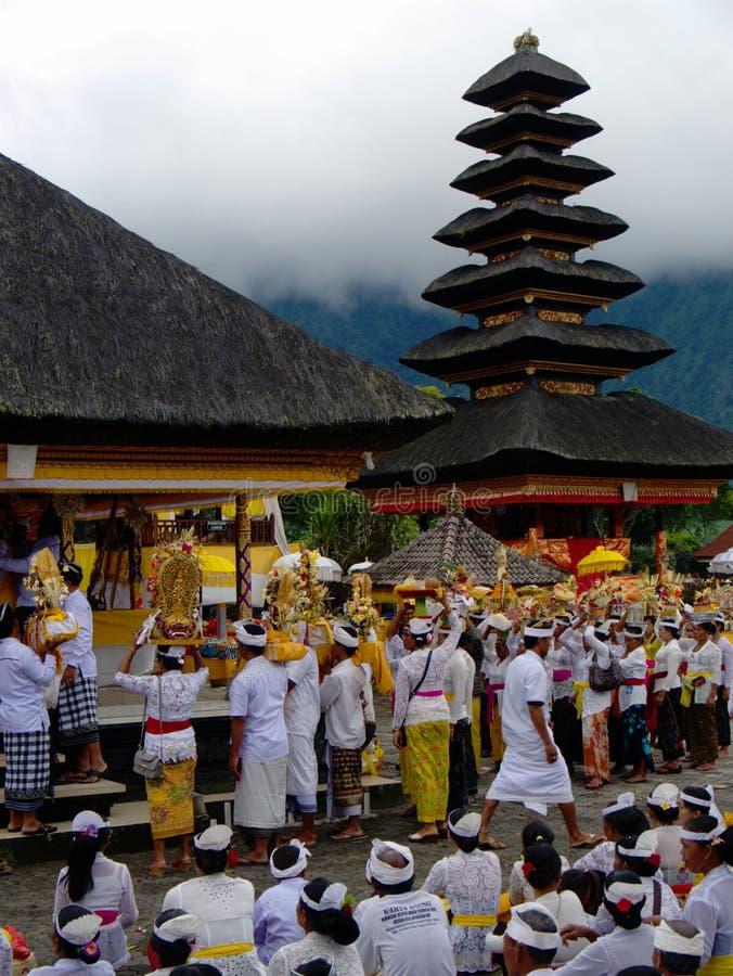 Shiva Temple - lago Bratan, ` do arquivo da competição do ` de Bali, Indonésia fotografia de stock royalty free