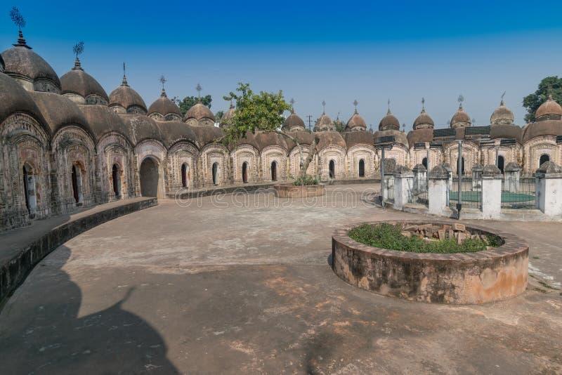 108 Shiva Temples de Kalna, Burdwan, le Bengale-Occidental photographie stock