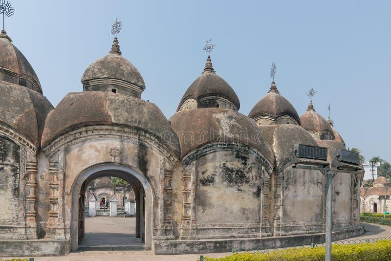108 Shiva Temples de Kalna, Burdwan, le Bengale-Occidental photos stock