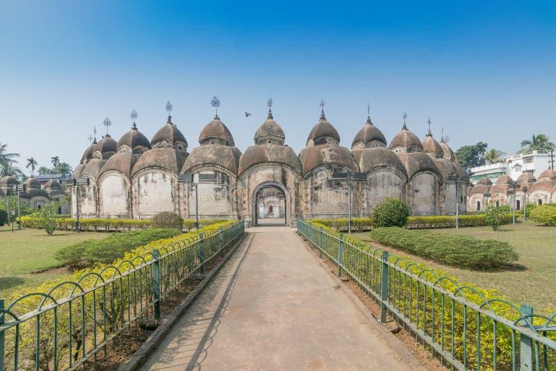 108 Shiva Temples de Kalna, Burdwan, le Bengale-Occidental photographie stock libre de droits
