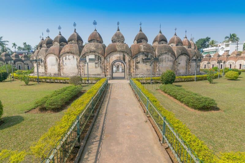 108 Shiva Temples de Kalna, Burdwan, le Bengale-Occidental image libre de droits