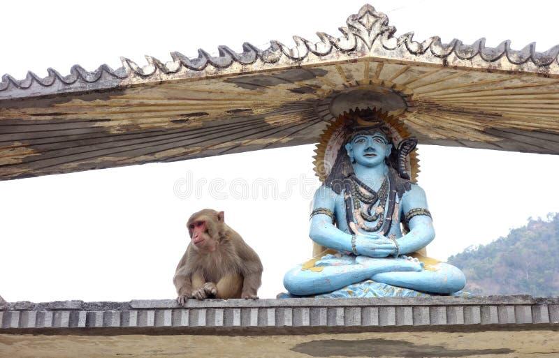 Shiva und Hanuman lizenzfreie stockfotos