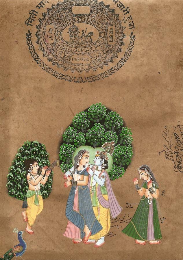Shiva und Parvati stockfoto