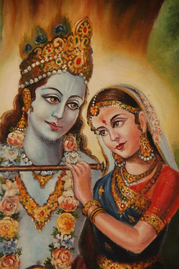 Shiva und Parvati stockfotos