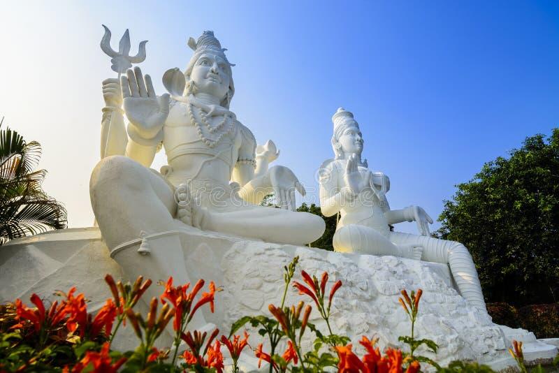 Shiva und Parvati auf den Kailasagiri-Hügel, Vizag stockfoto