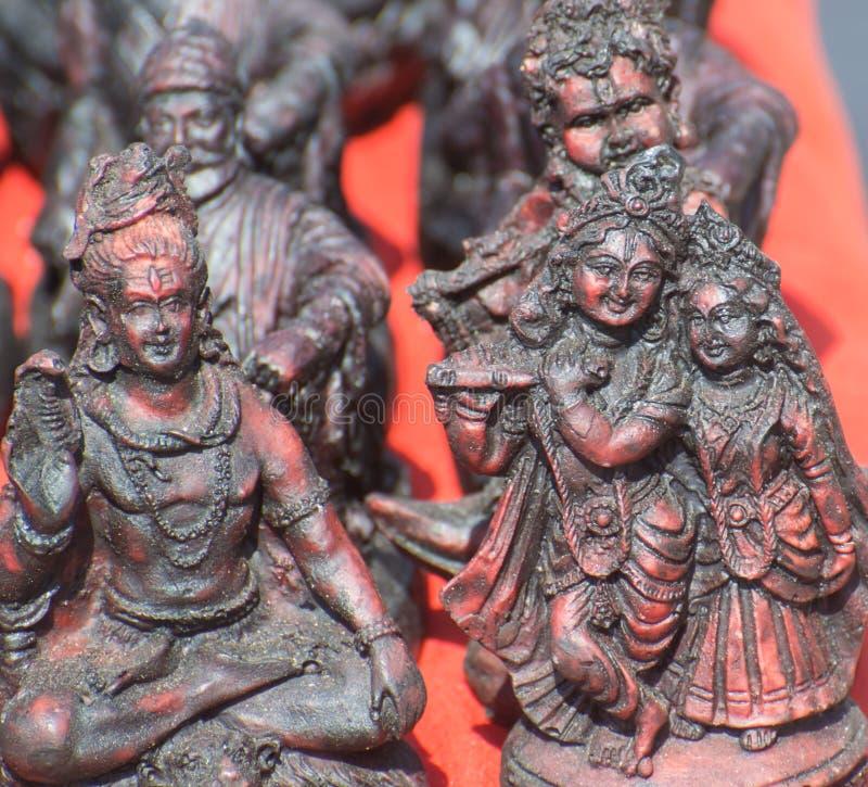Shiva und Radha Krishna Hindu Religion Deity lizenzfreie stockfotografie