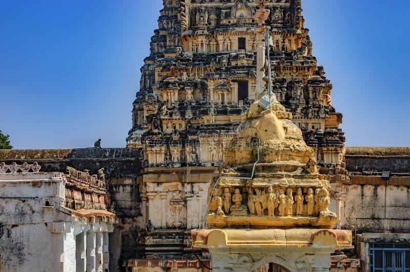 Shiva Virupaksha Temple in Hampi, Indien lizenzfreies stockfoto