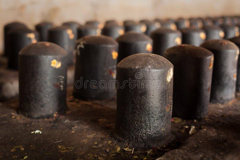 Shivalinga dans le temple de Brihadishwara, Tanjore photographie stock libre de droits