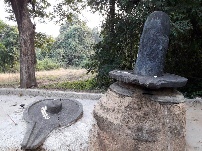 Shivalingaa starzy idole znajdujący w goa obrazy stock