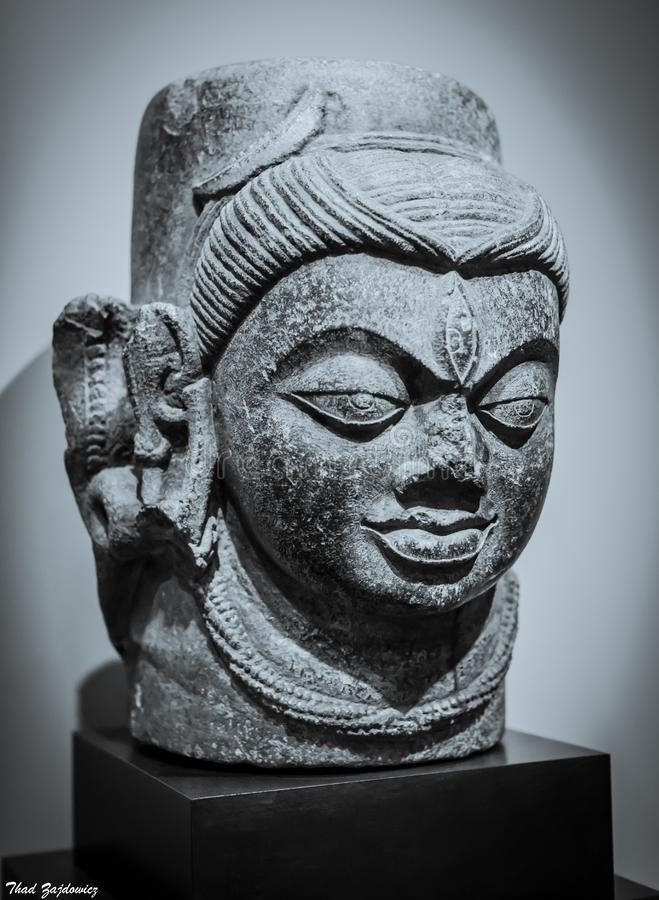 Shivalingam with One Face stock photo