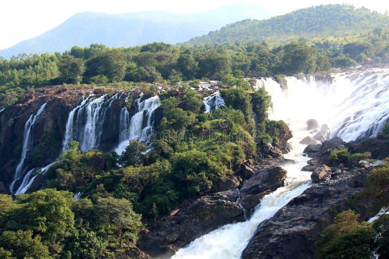 Shivanasamudra water falls royalty free stock photos