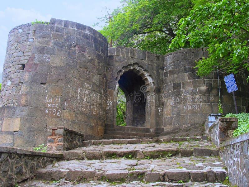 Shivaneri Gad of Fortingang, Junnar royalty-vrije stock foto's