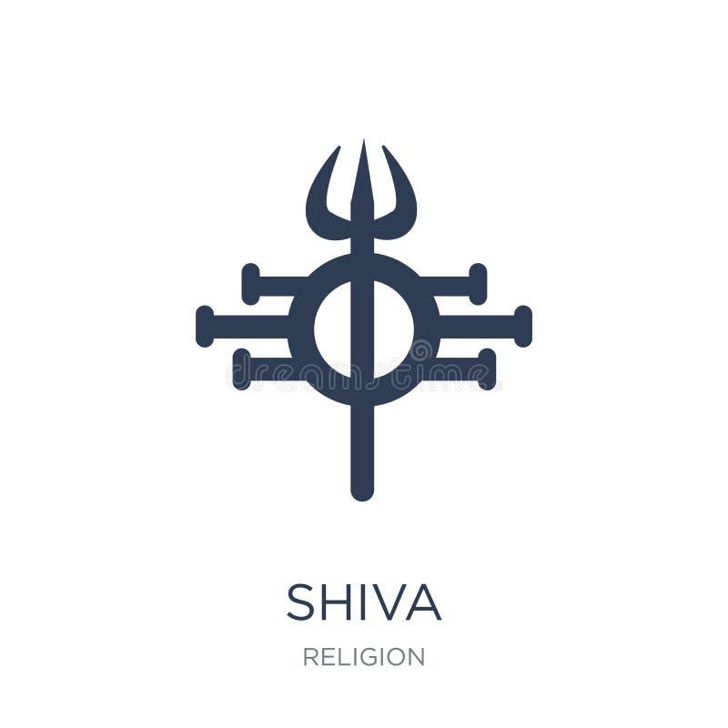 Shivapictogram In vlak vectorshiva-pictogram op witte achtergrond Fr vector illustratie