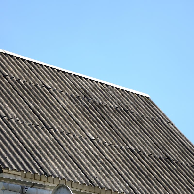 Shiver white roofs bring cool savings in residental attic. White Roofs Bring Cool Savings. For homes in warm climates, cool roofs can reduce air conditioning stock images