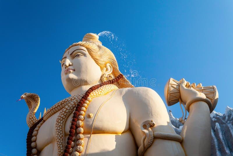 Shivoham Shiva Temple in Bangalore. Lord Shiva statue at the Shivoham Shiva Temple, located in Bangalore city in Karnataka, India stock photo