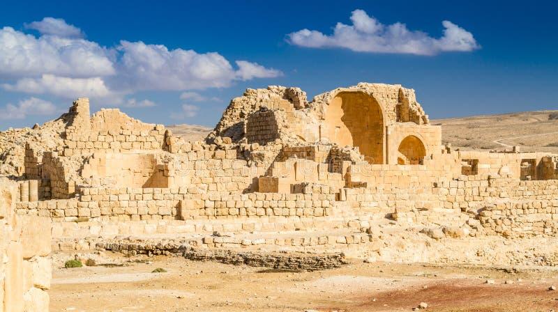 Shivta - eine Nabataean-Stadt lizenzfreie stockfotos