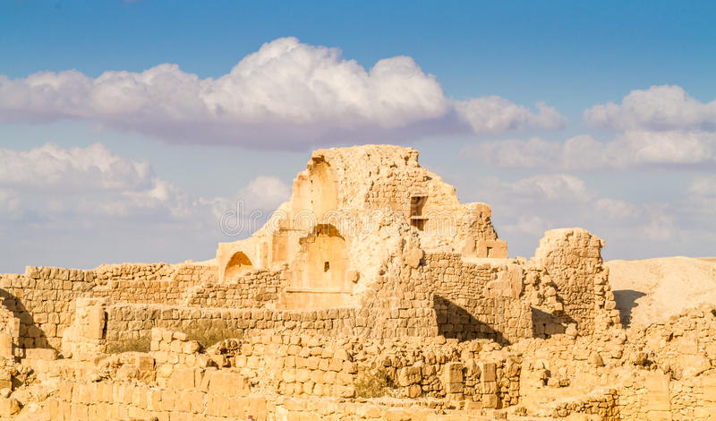 Shivta - Nabataean miasteczko fotografia stock