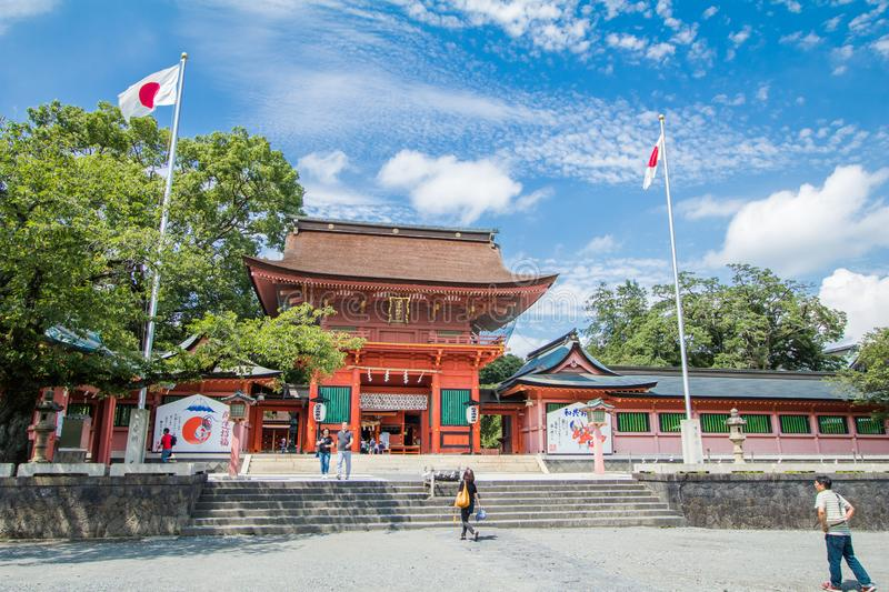 Shizuoka , Japan- August 22, 2017:Fujisan Sengen Shrine was one of the largest and grandest shrines in the city of Fujinomiya in. Shizuoka , Japan- August 22 stock image