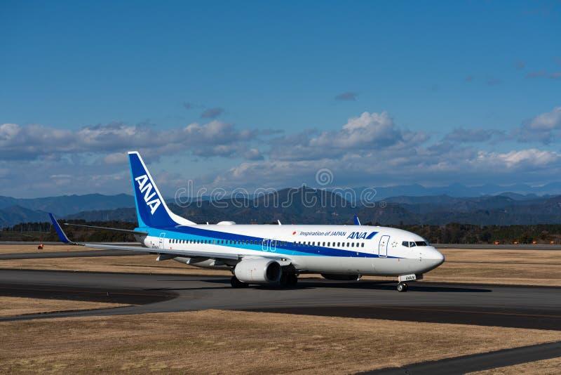 ANA Boeing 737-800 taxing stock photos