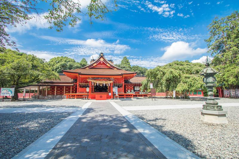 Shizuoka Prefecture ,Japan - August 19, 2017:Fujisan Sengen Shrine was one of the largest and grandest shrines in the city of F. Ujinomiya stock photo