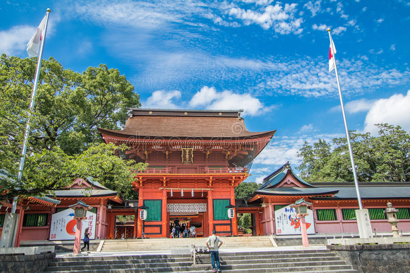 Shizuoka Prefecture ,Japan - December 18, 2016:Fujisan Sengen Sh. Shizuoka Prefecture ,Japan - August 19, 2017:Fujisan Sengen Shrine was one of the largest and royalty free stock photos