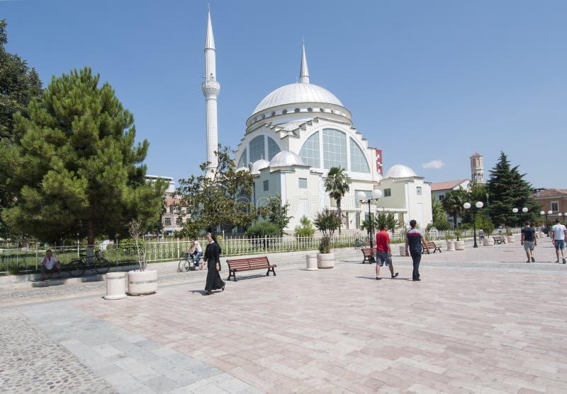 shkoder阿尔巴尼亚欧洲的中心 免版税库存图片